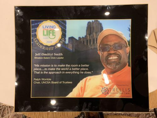TRELLIS SUPPORTIVE CARE'S 'LIVING YOUR BEST LIFE' AWARD